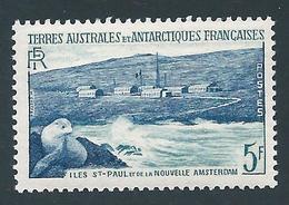 TAAF 1956 - YT N°4 - 5 F. - Faune - Otarie Et Baraquements - NEUF** - TTB Etat - Franse Zuidelijke En Antarctische Gebieden (TAAF)
