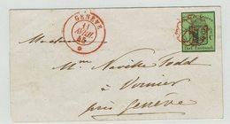 GENF No. 3 Auf Briefumschlag. - 1843-1852 Federal & Cantonal Stamps