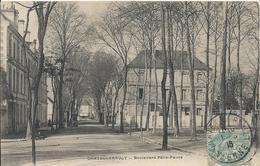 Carte Postale Ancienne De Chatellerault  Le Boulevard Felix Faure - Chatellerault