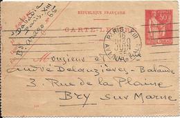 CARTE-LETTRE-1935-Cachet Paris-Ecrite-TBE - Entiers Postaux