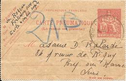 CARTE-PNEUMATIQUE-1932-Cachet Paris-Ecrite-TBE - Pneumatiques