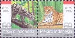 Mexico - Borneo Sunda Clouded Leopard And Jaguar, Set Of 2 Stamps, MINT, 2013 - Mexiko