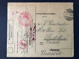 Lettre Complète Prisonnier Première Guerre Mondiale Allemagne Camp Limburg 1916 Tunisie Marcophilie - Guerra De 1914-18