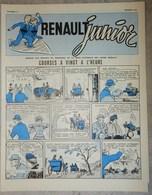 RARE REVUE RENAULT JUNIOR FÉVRIER 1957 N°13 RÉSERVÉ AU PERSONNEL VOITURE USINE - Newspapers