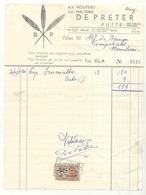 D248 België Factuur Mouterij DE PRETER PUTTE - 1950 - ...