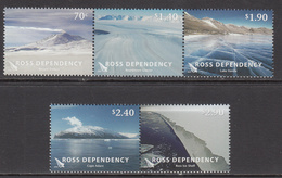 2012 Ross Dependency Views Complete Set Of 5 MNH @ BELOW FACE VALUE - Nuovi