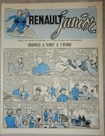 RARE REVUE RENAULT JUNIOR JANVIER 1957 N°12 RÉSERVÉ AU PERSONNEL VOITURE USINE - Newspapers