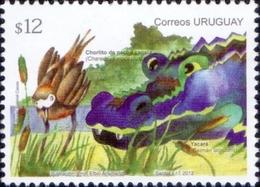 Uruguay - Bird And Crocodile, Stamp, MINT, 2012 - Uruguay