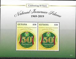 GUYANA, 2019, MNH,  NATIONAL INSURANCE SCHEME, SHEETLET - Stamps