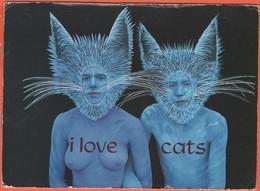 Cartoline - Tematica - Pubblicitari - I Love Cats - Topless - Not Sent - Pubblicitari