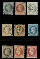 A10b- Tous Les Timbres Sans Défaut. Le N°30 Fond Ligné Horizontalement - 1863-1870 Napoléon III Lauré