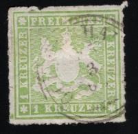 1865  Freimarke Mi DE-W 30 Sn DE-W 41 Yt DE-W 30 AFA DE-W 30 Stamped O - Wuerttemberg
