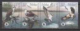 2003 Poland WWF Sea Eagle Birds Of Prey Complete Strip Of 4 MNH - W.W.F.
