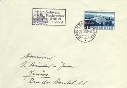 212, Bâtiment Société Des Nations, Palais SdN, Obl. Schweiz.Automobil-Postbureau 23.III.39 - Suisse