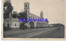 128964 SPAIN ESPAÑA CEUTA MAROC MOROCCO STATION TRAIN ESTACION DE TREN  POSTAL POSTCARD - Cyprus