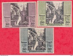 Autriche 3 Notgeld Stadt Schwallenbach  Dans L 'état Lot N 80 - Austria