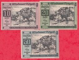 Autriche 3 Notgeld Stadt Schloss/Ranna/Muhldorf Dans L 'état Lot N °82 - Autriche