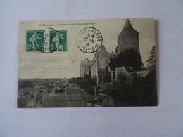 CPA 28 CHATEAUDUN. Le Chateau Et Le Faubourg Saint-Jean 1913 TBE - Chateaudun