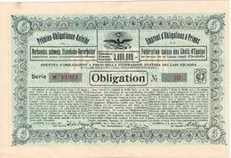 Titre Ancien - Emprunt D'Obligations à Primes De La Fédération Suisse Des Chefs D'Equipe - Titre De 1917 - - Non Classés