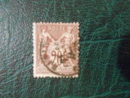 FRANCE YT67 TYPE SAGE 20c. Brun-lilas TYPE I Cachet à Date - 1876-1878 Sage (Type I)