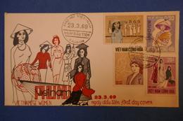 385 VIETNAM LETTRE ELEGANTE 1969 RARE SAIGON AFFRANCHISSEMENT PLAISANT FEMME VIETNAMIENNE MODE - Viêt-Nam