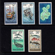 New Zealand 1978 The Sea & Its Resources Set Of 5 MNH - Nouvelle-Zélande