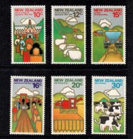 New Zealand 1978 The Land - Agriculture Set Of 6 MNH - Nouvelle-Zélande