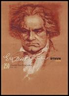 LUDWIG VAN BEETHOVEN, COMPOSER (1770-1827). 2020 Ukrainian Post Maxicard Issue. Unused Postcard - Célébrités