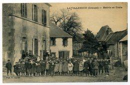 La VILLEDIEU. Mairie Et Ecole. - Autres Communes