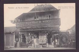 CPA Madagascar Afrique Tamatave écrite Commerce Shop Front A La Ville De Nice Bazar Cartes Postales - Madagascar