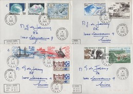 Alfred Faure Crozet - TAAF - Lot De 4 Lettres Destination Suisse - Terres Australes Et Antarctiques Françaises (TAAF)