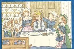 CPM Fête De L' Épiphanie Galette Des Rois Illustrateur Japonais Milk Aoyama - Editée Créateur Fève Japonaise My Charm - Illustratori & Fotografie