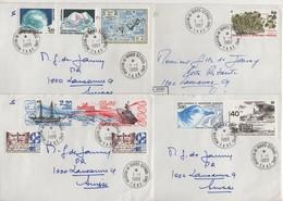 Martin De Vivies St Paul AMS - TAAF - Lot De 4 Lettres Destination Suisse - Terres Australes Et Antarctiques Françaises (TAAF)
