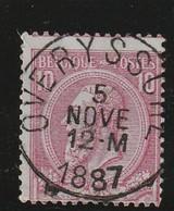 COB N° 46 Oblitération  OVERYSSCHE 1887 - 1884-1891 Leopold II