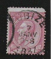 COB N° 46 Oblitération TUBIZE 1887 - 1884-1891 Leopold II