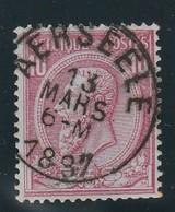 COB N° 46 Oblitération AERSEELE 1887 - 1884-1891 Leopold II
