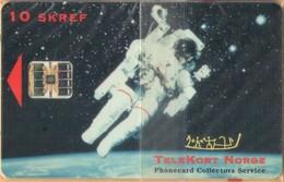 Iceland - ICE-P-1, Radomidun, TeleKort Norge - Astronaut, Coca Cola, 100U, 1,000ex, 1995, Mint NSB - Islandia