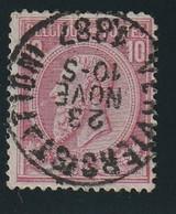 COB N° 46 Oblitération VERVIERS (STATION) - 1884-1891 Léopold II