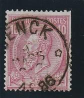 COB N° 46 Oblitération  RELAIS GENCK ( DEFAUT) - 1884-1891 Leopold II