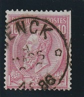 COB N° 46 Oblitération  RELAIS GENCK ( DEFAUT) - 1884-1891 Léopold II