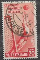 REGNO D'ITALIA 1934 CAMPIONATO DI CALCIO SASS. 357 USATO VF - Usati