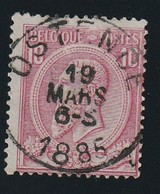 COB N° 46 Oblitération OSTENDE - 1884-1891 Leopold II