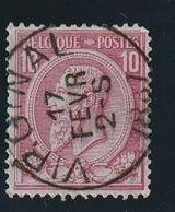 COB N° 46 Oblitération VIRGINAL - 1884-1891 Léopold II