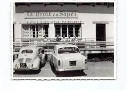VALBERG 1965 - Photo Originale -Restaurant, Patisserie. '' La Croix Du Sapel '' Automobiles Peugeot 403 Renault 4CV - France