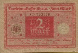 1920 Germany 2 Marks DARLEHENSKASSENSCHEIN P#59 - Imperial Debt Administration