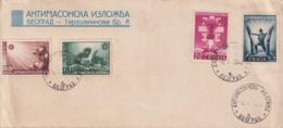F-EX15923 SERBIA 1942 FDC ANTI-MASONIC JUDEN ANTICOMMUNIST. - Serbie