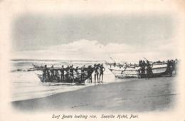 R269327 Surf Boats Loading Rice. Seaside Hotel. Puri. No. 1 - Cartoline