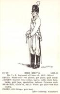 R269959 Set 18. Irish Militia. No. 3. R. Regiment Of Limerick. 1812. 1800 14. Rene North - Cartes Postales
