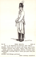 R269959 Set 18. Irish Militia. No. 3. R. Regiment Of Limerick. 1812. 1800 14. Rene North - Postcards