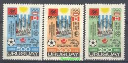 Uruguay 1974 Mi 1313-1315 MNH ( ZS3 URG1313-1315 ) - 1974 – Allemagne Fédérale